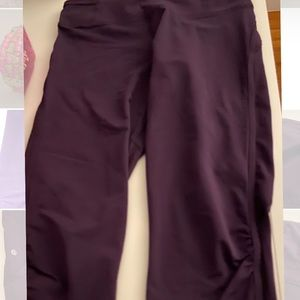 Purple Lululemon Crop Capri